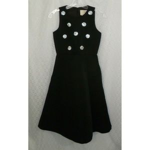 Kate Spade 00 Black Dress NWT Embellished Dot